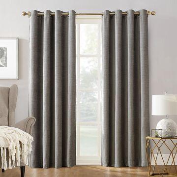 Sun Zero Manor Chenille Velvet 100% Extreme Blackout Grommet Curtain Panel 52