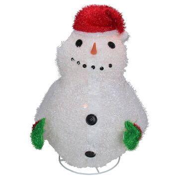 Sterling 24in. Outdoor Snowman Wearing Santa Hat