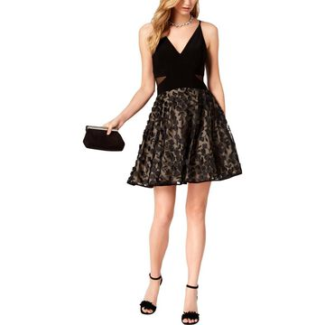 Xscape Womens Floral Embroidered Party Dress