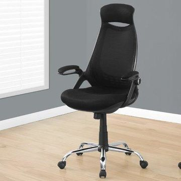 Monarch Office Chair Black Mesh / Chrome HighBack Executive