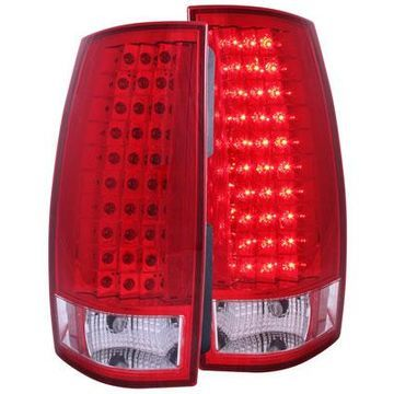 Anzo USA LED Tail Lights in Red/Clear, LED Tail Lights - 311140