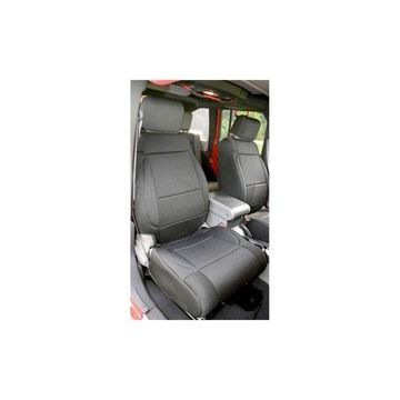 Rugged Ridge 13215.01 Seat Cover For Jeep Wrangler (JK), Black Solid Design