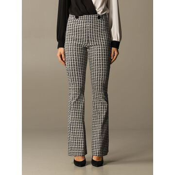 Hanita Flared Trousers With Macro Pied De Poule