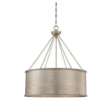 Savoy House Rochester 6-Light Pendant in Silver Patina