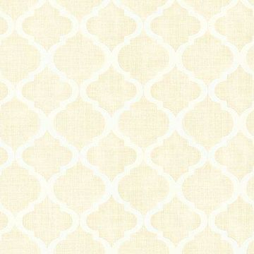 Kenneth James Palace Champagne Quatrefoil Wallpaper