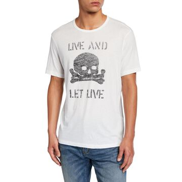 Men's Live And Let Live Skull Graphic T-Shirt