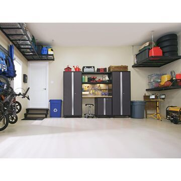 NewAge Products Bold Series 9 Piece Garage Cabinet Set - Gray