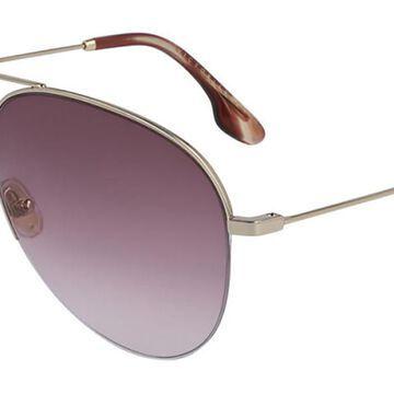 Victoria Beckham VB90S 712 Womenas Sunglasses Gold Size 62