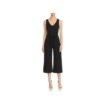 Three Dots Womens Jumpsuit Ponte Cropped
