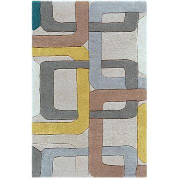 Surya Forum 2 x 3 Wool Gray Indoor Geometric Mid-century Modern Area Rug | FM7159-23