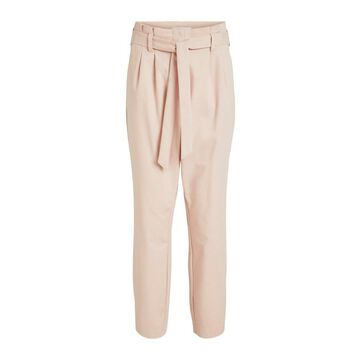 **Vila Pink High Waisted Trousers