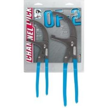 Channellock OF-2 Oil Filter/PVC Plier Set, 2-Pc