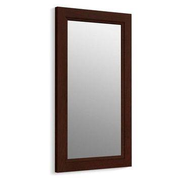 Kohler Damask Framed Mirror, Cherry Tweed
