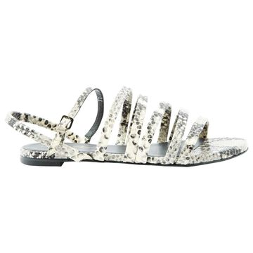 Robert Clergerie White Leather Sandals
