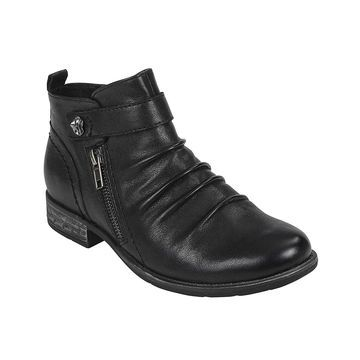 Earth Womens Brook Leather Round Toe Ankle Fashion Boots