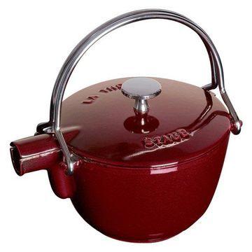 Staub Cast Iron 1-qt Round Tea Kettle - Grenadine