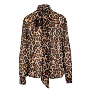 Blumarine Viscose Shirt With Animalier Print
