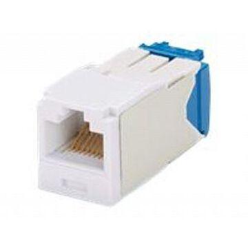 Panduit MINI-COM TX-6 10Gig - Modular insert - white - 1 port