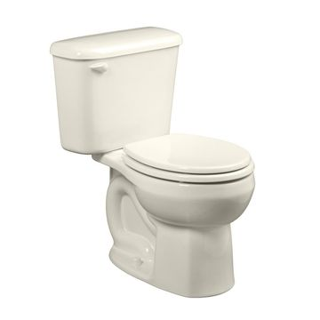 American Standard Colony Linen Round Standard Height 2-Piece Toilet 10-in Rough-In Size in White