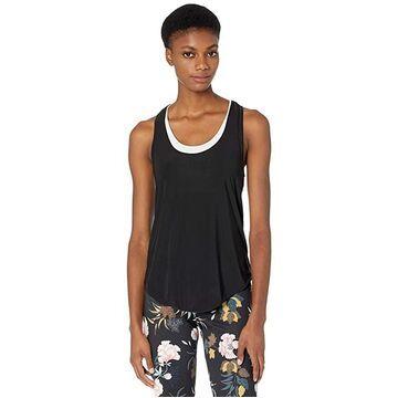 Onzie Glossy Flow Tank Top (Black) Women's Sleeveless
