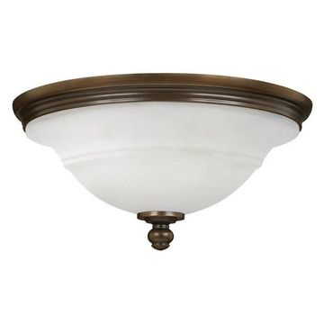 Hinkley Lighting 54261 Plymouth 3-Light Flush Mount Ceiling Fixture, Olde Bronze