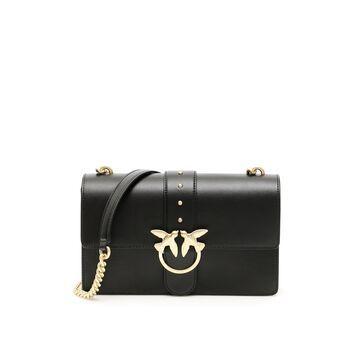 PINKO LOVE SIMPLY 12 BAG OS Black Leather