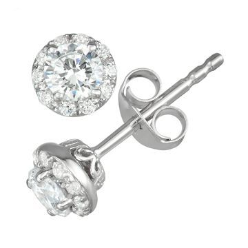 Simply Vera Vera Wang 14k White Gold 1/2 Carat T.W. Diamond Stud Earrings
