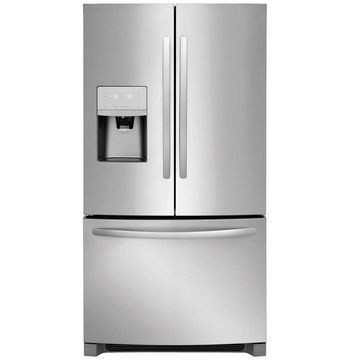 Frigidaire 21.7-cu ft Counter-depth French Door Refrigerator with Ice Maker (EasyCare Stainless Steel) ENERGY STAR