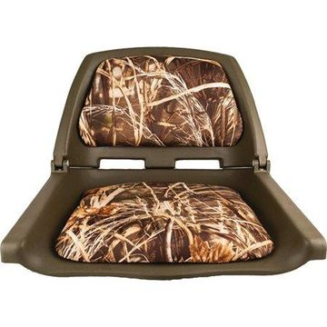 Attwood 98391GNMX Camoflauge Padded Flip Boat Seat