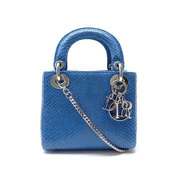 Dior Lady Dior Blue Water snake Handbags