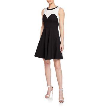 Trompe l'Oeil Full Skirt Dress