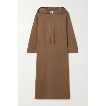 Max Mara - Lerici Hooded Wool Dress - Light brown