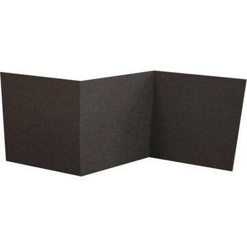 6 1/4 x 6 1/4 Z-Fold Invitation - Black Linen (500 Qty.)