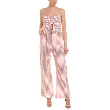 Bardot Womens Summer Linen-Blend Jumpsuit