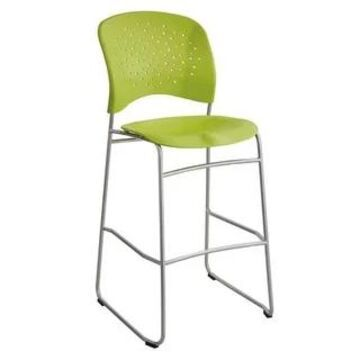 Safco Reve Round Back Latte Plastic Bistro Height Bar Chair (Green)