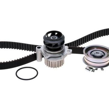 ACDelco Timing Belt & Components, Professional Engine Timing Belt Kit with Water Pump - With Plastic Impeller
