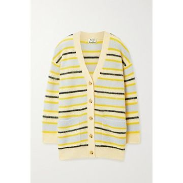 Acne Studios - Striped Knitted Cardigan - Yellow