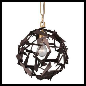 """Varaluz 286P01 Bermuda Single Light 11-1/2"""" Wide Pendant Antique Gold / Rustic Bronze Indoor Lighting Pendants"""
