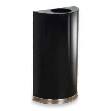 Rubbermaid Commercial 12 Gallon Half Round Steel Receptacle