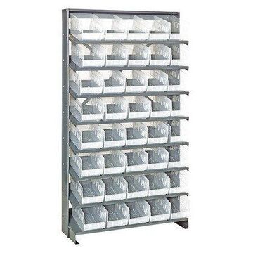 QUANTUM STORAGE SYSTEMS QPRS-202CL Pick Rack,Overall 12'' D,Clear