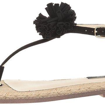 kensie Womens Kensie Split Toe Casual T-Strap Sandals