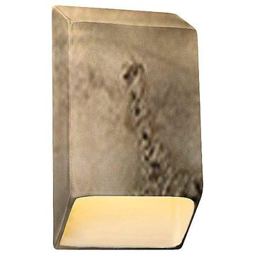 Justice Design Group Ambiance Tapered Rectangle Closed Top LED Wall Sconce - Color: Beige - Size: Small - CER-5860-TRAG