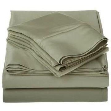 Superior Egyptian Cotton 1200 Thread Count Deep Pocket Bed Sheet Set (California King - Sage)