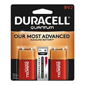Duracell Quantum 9Volt Alkaline Batteries 2 Pack (New Damaged Box)