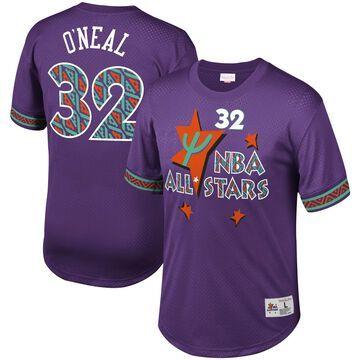 Men's Mitchell & Ness Shaquille O'Neal Purple NBA Mesh T-Shirt