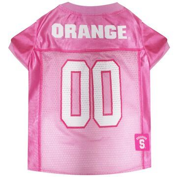 Pets First Syracuse Orange Pink Jersey, Small