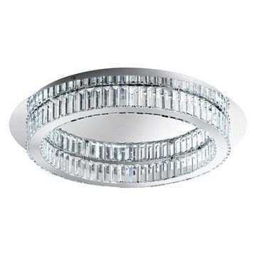 Eglo Corliano Flush Mount Ceiling Light, Chrome