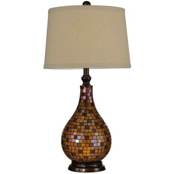 Dale Tiffany Amber Mosaic Table Lamp