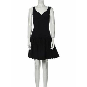 V-Neck Mini Dress Black