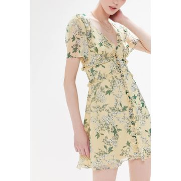 Keepsake Luscious Floral Ruffle Mini Dress